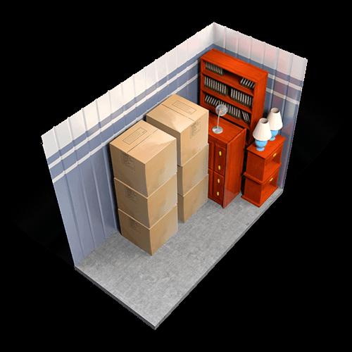 5 x 10 storage unit